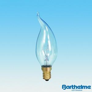 Kerzenlampe Windstoss klar 230V 25W E14