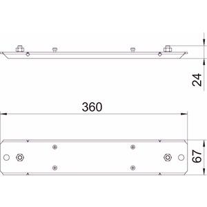 BSKM-AD 0407 RW, Auflager für abgehängte Montage 40x70, St, L, reinweiß, RAL 9010