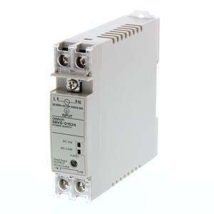 S8VS-01524, Schaltnetzteil, 15 W, 100 bis 240 VAC Eingang, 24 VDC 0,625 A Ausgang, DIN-Schienenmontage