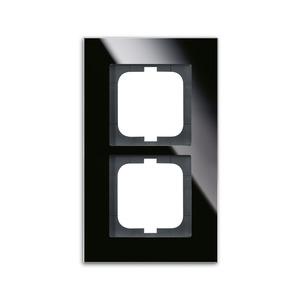 1722-825, carat Abdeckrahmen 1722-825 2-fach Glas schwarz
