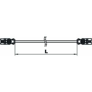 VL-3Q2.5 2 SW, Verlängerungsleitung Querschnitt 3x2,5 mm² L2000mm, schwarz