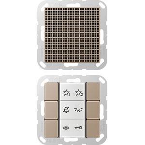 SI AI A 6 CH, Audio-Innenstation, Beschriftungsfeld, Beschriftungsfolien, Anschlusskabel