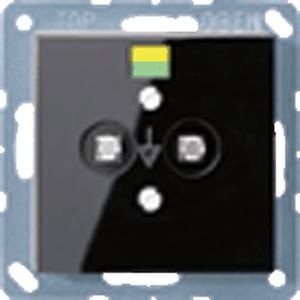 A 565-2 SW, Potentialausgleich-Steckdose, 2 Steckerstifte nach DIN 42801, Tragring
