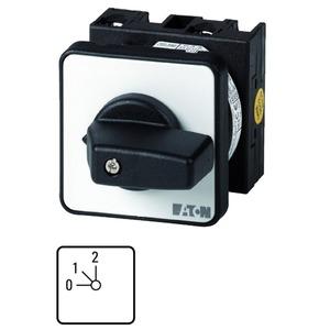 T0-1-8240/EZ, Stufenschalter, Kontakte: 2, 20 A, Frontschild: 0-2, 45 °, 2 Stufen 45°, rastend, Zentraleinbau