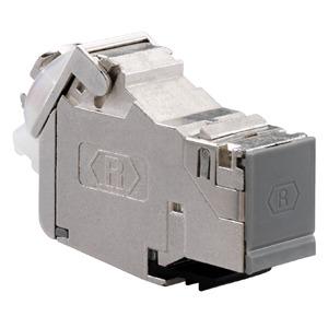 UM-Cat.6A iso A, Universalmodul Cat.6A iso, geschirmt, passend für Standard-Keystone-Ausschnitte