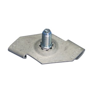 4G24M25, 4G24 Drehklipp mit Gewindestift, CADDY ARMOUR, Grau, 25 mm (0,984) Schraube, 1,5 mm Flansch, 24 mm Rastermaß