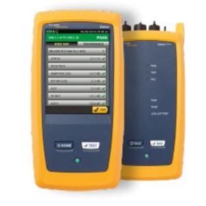 DSX2-5000 INT, 1 GHz DSX-5000  CableAnalyzer™ WLAN aktiviert: Versiv2-Haupt- und -Remote-Gerät + (2) DSX Kupfer-Module