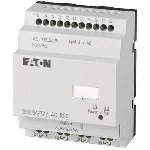 EASY512-AC-RCX, Steuerrelais, 100-240VAC, 8DI, 4DO-Relais, Uhr