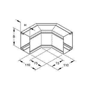 LUAD 60.060 E3, Außeneck 2x45° mit Deckel, 60x60 mm, ohne Bodenlochung, Edelstahl, Werkstoff-Nr.: 1.4301, 1.4303