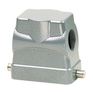 Tüllengehäuse B10, BB18, DD42 und MOB10 aus Aluminium der Höhe 56mm mit Längsverriegelungsnocken, 1xM20 Verschraubung und Kabeleinführungen seitlich-P712610MV