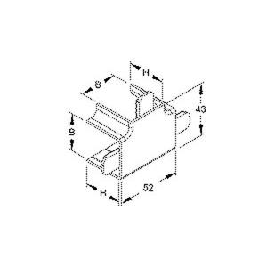 FT3030.3, T-Stück 90°, mit Laschen, 32x30 mm, Kunststoff ASA, RAL 9010, reinweiß