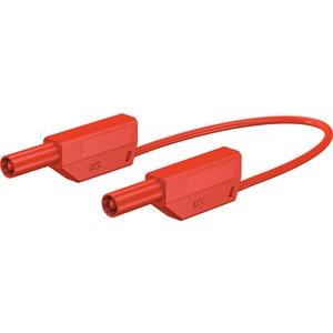 SLK425-E/N, 4mm Sicherheits-Messleitung 100cm rot