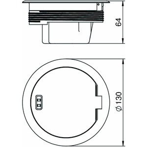 GESRMS2 USB, Geräteeinsatz mit Schutzrahmen, Altmessing, Zn, CuZn