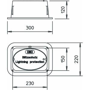 5700, Unterflur-Trennstellenkasten ohne eingebauter Trennstelle 227x155x115, EN-GJL, schwarz