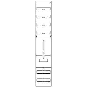 1ZF58, Zählerfeld BH5 1-Feld nicht verdrahtet mit Zählerkreuz