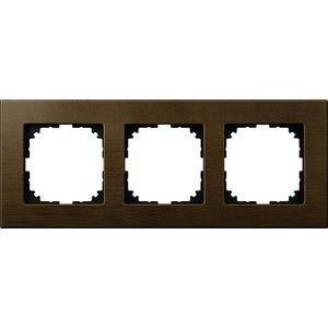 Holzrahmen, 3fach, Walnuss, M-PLAN