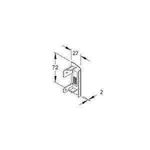T/SFE70R.3, Endstück rechts, 72x27 mm, Kunststoff ASA, RAL 9010, reinweiß