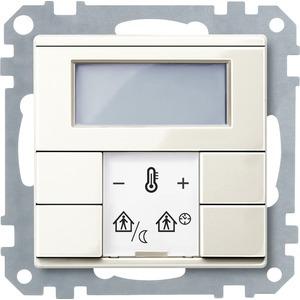 Raumtemperaturregler mit Display, weiß glänzend, System M