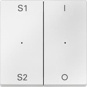 Wippen für Taster-Modul 2fach (Szene1/2, 1/0), polarweiß, System M