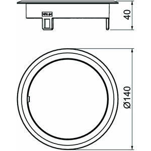 GES R2B 9011, Blinddeckel Kunststoff 140x140x40, PA, graphitschwarz, RAL 9011