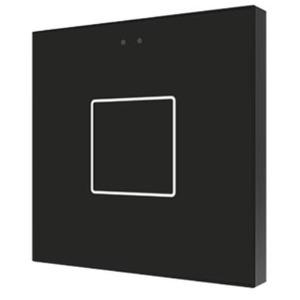 ZVI-F1-A, Zennio Flat 1 Kapazitive Taster mit Temperaturfühler, 1 Taste, schwarz