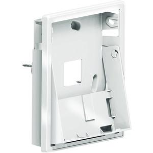 Unterputz-Gehäuse zur Neigungswinkeleinstellung des Monitors, wenn die optimale Montagehöhe (Oberkante Hausstati