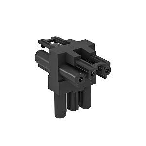 VB-T GST18i3p, Verteilerblock T-Form 1 Eingang / 2 Ausgänge 3-polig, schwarz