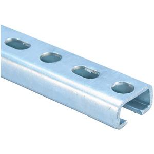 E530H1000HD, C-Schiene, Typ E5, gelocht, Stahl, HD, 1.000 mm x 20 mm x 36 mm (3,28' x 0,787 x 1,417)