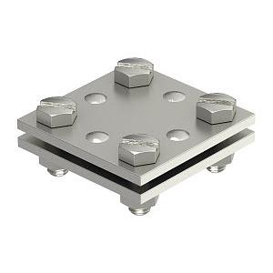 256 A-DIN 30 VA, Kreuzverbinder o. Zwischenplatte 30mm, 256/A-DIN 30 / Obo Nr. 5314720