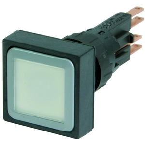 Q25LTR-WS/WB, Leuchtdrucktaste, weiß, rastend, + Glühlampe 24 V