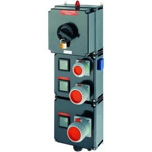 GHG 981 0043 R0001, Ex-Steckdosenverteilung für Zone 1, 80 A, GHG 981346-415 V, 1 x M50, 5 x M16 Leitungseinführung