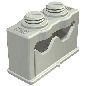 3040 2, Greif-ISO-Schelle für 2 Kabel 6-16mm, PS, lichtgrau, RAL 7035