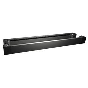 VX 8620.007, VX Sockel-Eckstück mit Blende, vorne/hinten, H: 100 mm, für B: 1200 mm, Preis per VPE, VPE = 2 Stück