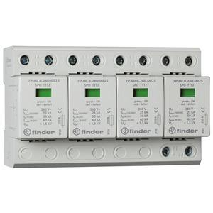 7P.05.8.260.1025, Überspannungsableiter Typ 1 und 2, Varistor und Funkenstrecke, für 3-phasige TN-S-Netze