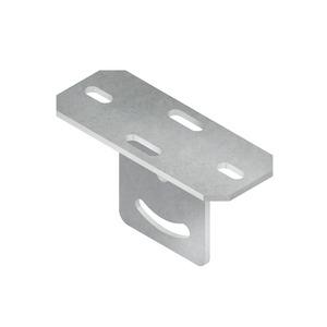 KUGV 50, Schraubkopfplatte für Profil U 50, vertikal, verstellbar, Stahl, feuerverzinkt DIN EN ISO 1461, inkl. Zubehör