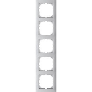 M-Pure-Rahmen, 5fach, aluminium, M-Pure