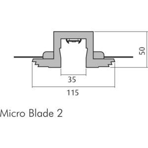 Micro Blade 35  770 Profilleuchte Gips weiß 1,5 m, Micro Blade 35  770 Profilleuchte Gips weiß 1,5 m