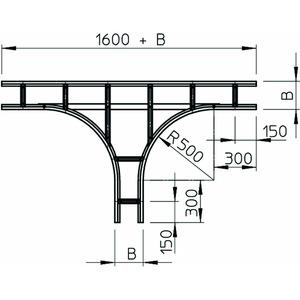 WLT 1160 FT, T-Abzweigstück für Weitspannkabelleiter 110 110x600, St, FT