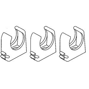 796.210, RO-CLIP-Rohrschelle, Pg 21, für Kabel-Ø 28-29 mm, Kunststoff PP, RAL 7035, lichtgrau