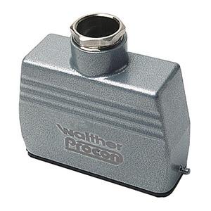 Tüllengehäuse A16 und D25 aus Aluminium der Höhe 58mm mit Längsverriegelungsnocken, 1xM20 Verschraubung und Kabeleinführung gerade-T702816MV