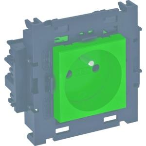 STD-F0C8 MZGN1, Steckdose 0°, 1-fach mit Erdungsstift, Connect 80 250V, 10/16A, PC, minzgrün, RAL 6029