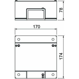 BSKM-TR 0711, T-Reduzierabzweig für Wand- und Deckenmontage 70x110, St, FS