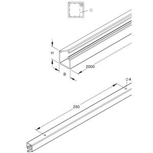 LCD96.6, LCD-Minikanal, 12,8x13x2000 mm, Kunststoff PVC-hart, RAL 9001, cremeweiß