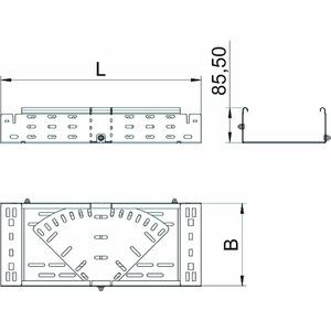 RBMV 840 FT, Bogen variabel mit Schnellverbindung 85x400, St, FT