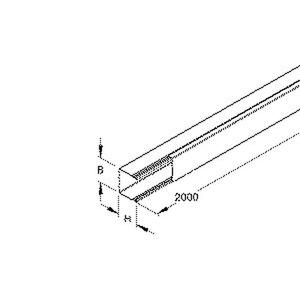 LLK 26.030 E3, Mini-Leitungsschutzkanal mit Deckel, 26x30x2000 mm, mit Bodenlochung, Edelstahl, Werkstoff-Nr.: 1.4301, 1.4303