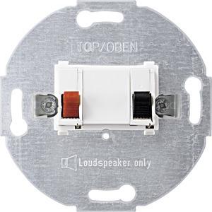 Lautsprecher-Anschluss-Einsatz, 1fach, polarweiß
