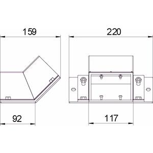 BSKM-ES 0711RW, Etage steigend für abgehängte Montage 70x110, St, L, reinweiß, RAL 9010
