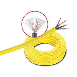 Industrieflex 07 5 G 1,5mm², gelb, silikonfrei, Aufm.: 100m Ring, Kupferl. verzinnt