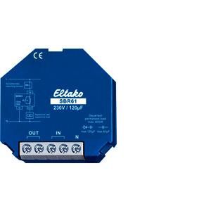 SBR61-230V/120µF, Strombegrenzungsrelais kapazitiv 230V/120 Mikrofarad. 1 Schließer 10A/250VAC