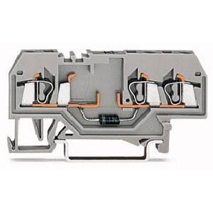 3-Leiter-Diodenklemme 2,5 mm² mit Diode 1N4007 grau